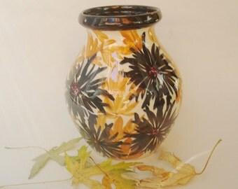 c1920s German Floral Pottery Vase