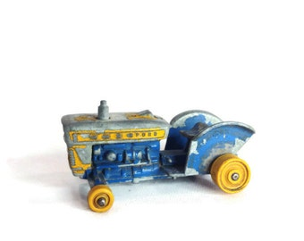 Matchbox Ford Tractor (39c) Vintage 1960's Toy Tractor