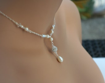 Pave necklace Disco ball necklace Sparkle pave necklace Pave ball necklace Swarovski pearl necklace Swarovski necklace Silver pave necklace