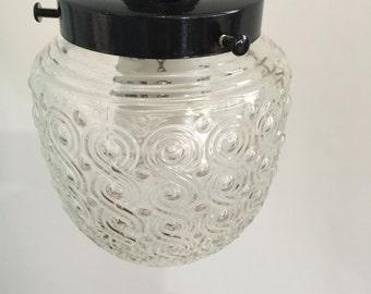 Small Swirly Glass Pendant