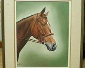 Vintage Oil Painting On Board - Signed By Margaret Emmett - Portrait of Horse