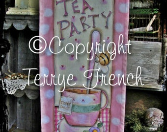 Bee Tea Party, Terrye French, pattern packet email