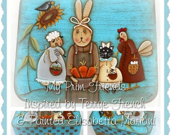 My Prim Friends - Painted by Elisabetta Mariani, Painting With Friends E Pattern