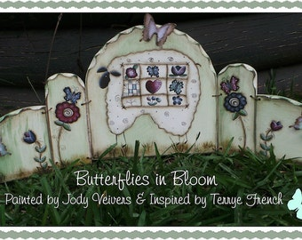 Butterflies in Bloom - Painted by Jody Veivers, Painting With Friends E Pattern