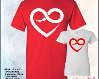 Heart, Love, Infinity shirt, tshirt • Mens #5000 • Ladies #5000L