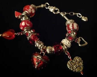 Sweetheart Locket Charm Bracelet