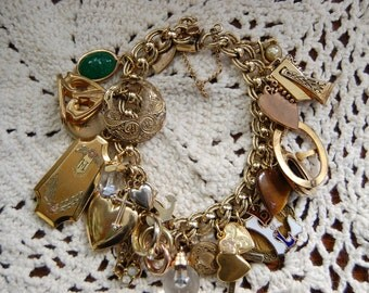 Vintage 12ktGF Bracelet with 24 charms