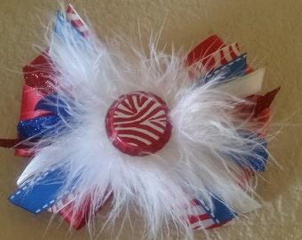 patriotic glitter girlie bow