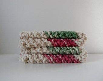 A Bit of Christmas Cheer Knit Dishcloths