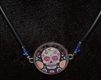 Day of the Dead Themed Pendant Necklace - Handmade by Local Artist
