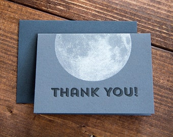 Thank You! Letterpress Thank You Set of 10