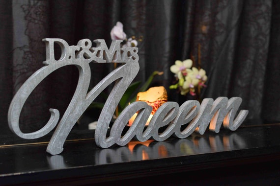 Wooden Mr & Mrs With Last Name Mr And Mrs Last Name Table