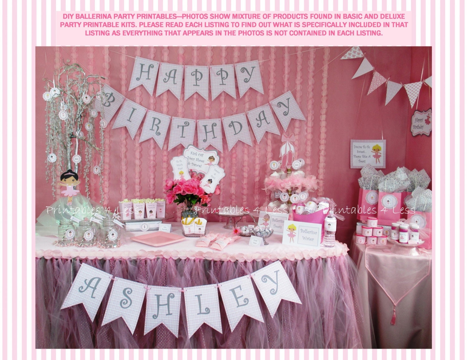 Ballerina birthday party diy ballet party decoration diy for Ballerina party decoration