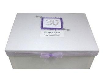 30th Birthday Large Keepsake Box
