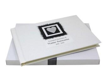 Condolence Book - Hearts in a Box