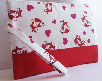Foxes and Hearts Clutch, Red Clutch