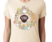 CUSTOM My Neighbor Totoro T-shirt ~ Studio Ghibli ~ Cream ~ American Apparel