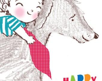 Happy Birthday... Rosie & Radish SCRUFF Giddyup! Greeting Card