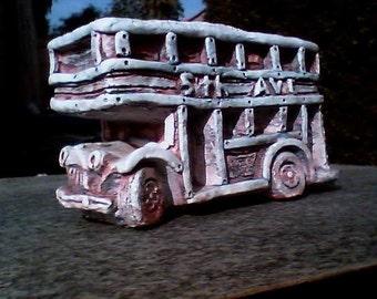 Vintage 5th Ave Bus Planter Sculpture