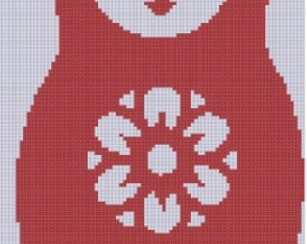 Russian Doll Cross Stitch Pattern
