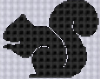 Squirrel Silhouette 2 Cross Stitch Pattern