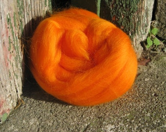 SALE Merino Wool Roving/top 64's 23 Microns - CLEMENTINE. For Spinning,Wet or Needle Felting, Craft Work.