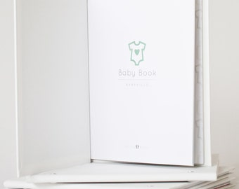 Babyville - MODERN BABY BOOK, Mushybooks, Baby Memory Book, Baby Shower Gift, Baby Gift, Baby Shower, Baby Album, Keepsake Baby Book