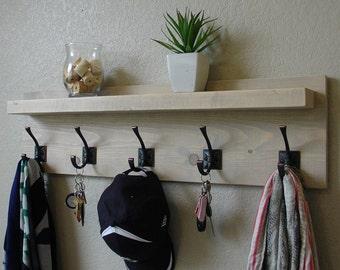Hampton Coat Rack w/ Floating Shelf
