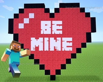 Gratifying image regarding printable minecraft valentines