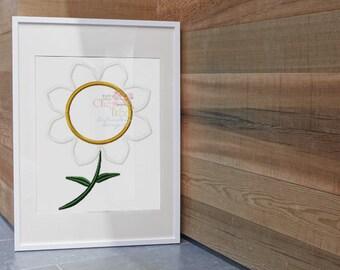 Instant Download ~Satin Flower Machine Applique Design~
