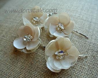 Wedding Hairpiece- Bridal Hair Flower -Wedding Hair Flower -Wedding Flower Headpiece- Bridal Hair Accessories- Bridal Hair pins