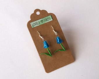 Dangle origami tulip earrings