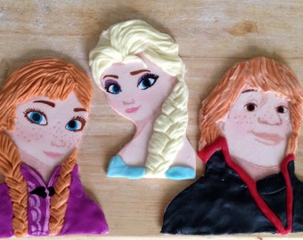 Fondant Frozen Characters Cake Topper