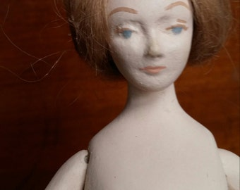 Hand Made OOAK Doll Kit with 1910s Clothes Pattern and Materials London Lady Edwardian Style Doll.