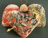 Primitive Folk Art Prairie Angel-HEART'S ARROW-Original Design from Vintage Antique Coverlet with hand-carved arrow