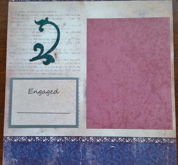 Once Upon A Time Fantasy 2 Page 12x12 Premade Scrapbook Layout Our Story W
