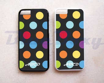 Colorful Polka Dot on Black - iPhone 8, 8 Plus, iPhone 7, iPhone 7 Plus, iPhone 6/6s, iPhone 6 Plus, 6s Plus, iPhone 5/5s, iPhone 4/4s