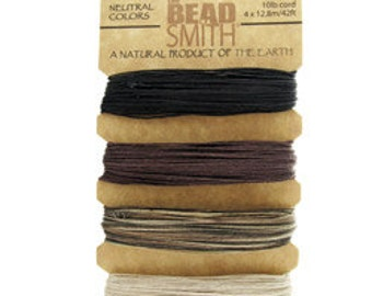 Hemp Cord Natural Colors Assortment Card .55mm 10lb Test  (CD6100)