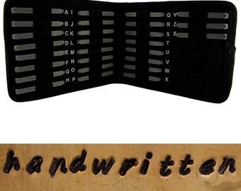 Letter Punch Set 2mm HANDWRITTEN Lower Case 27pcs with Case  (PN979)