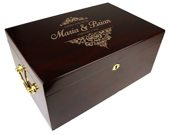 Personalized Humidor The Tuscany 100-120 Capacity, Wedding Gift [DEC-011]