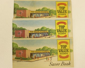 Top Value Stamps Saver Books, Hi-D books, Set of 3, from 1966