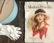 Vintage Full Issue Magazine, 1920s Magazine, Modern Priscilla Magazine, Downton Abbey Style Magazine, 1920s Advertising, 1920s Ephemera
