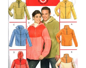 McCall's Sewing Pattern MP241 Misses' / Men's Tops and unlined Jacket  Size:  Xlg-xxl-xxxxl  Uncut
