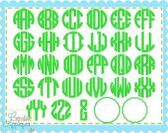 LARGE 5 Sizes BX Natural Circle Honeycomb Embroidery Monogram Alphabet Font Digital Machine Embroidery Applique, monogram font, circle font