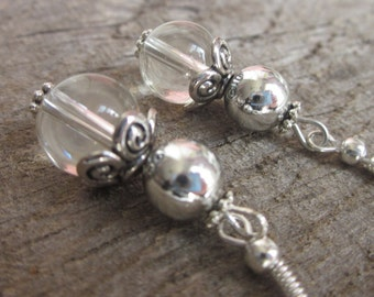 Boho chic Bohemian earrings quartz earrings silver earrings country chic earrings gift for 15 cowgirl gift ideas dangle drop earrings