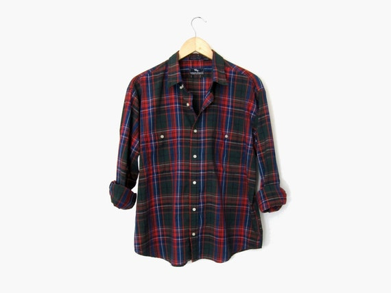 Green and red tartan shirt oversized plaid by westernspectre for Oversized red plaid shirt