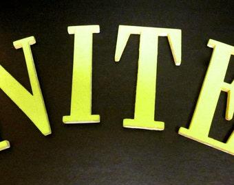 """Vintage Group Wooden Letters 12Pcs-3"""" X 2.5"""""""