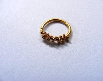 NEW!!!! 14k gold septum ring, gold septum ring, tribal septum ring, body jewelry, septum ring, indian septum ring, gold septum, small septum
