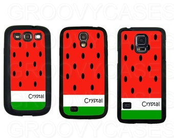 Personalized Samsung Galaxy S3 S4 S5 Case Rubber Watermelon