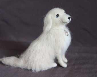 Made to Order - Needle Felted Golden Retriever - Soft sculpture/ Needle felt miniature